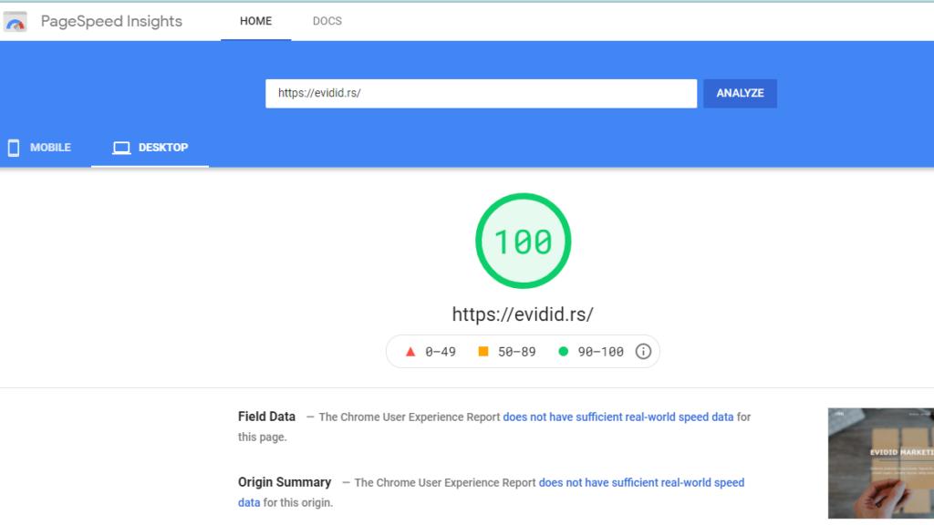 Obavezni SEO brzina sajta